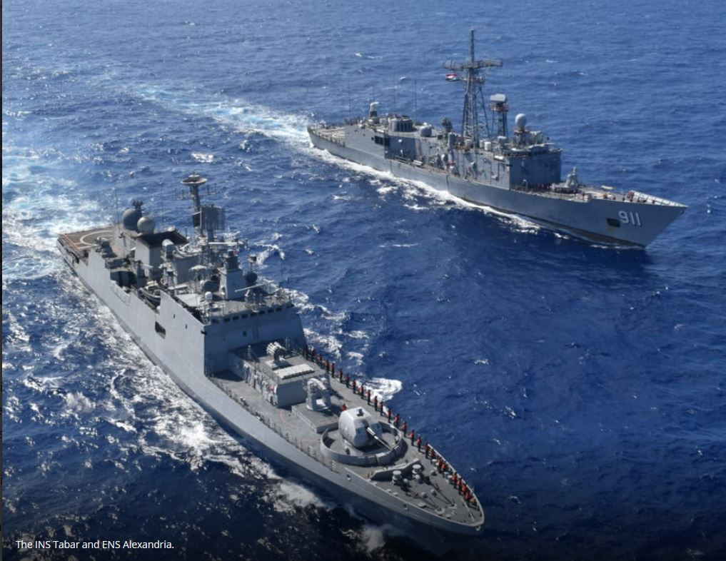 Indian and Egyptian navies conduct exercise