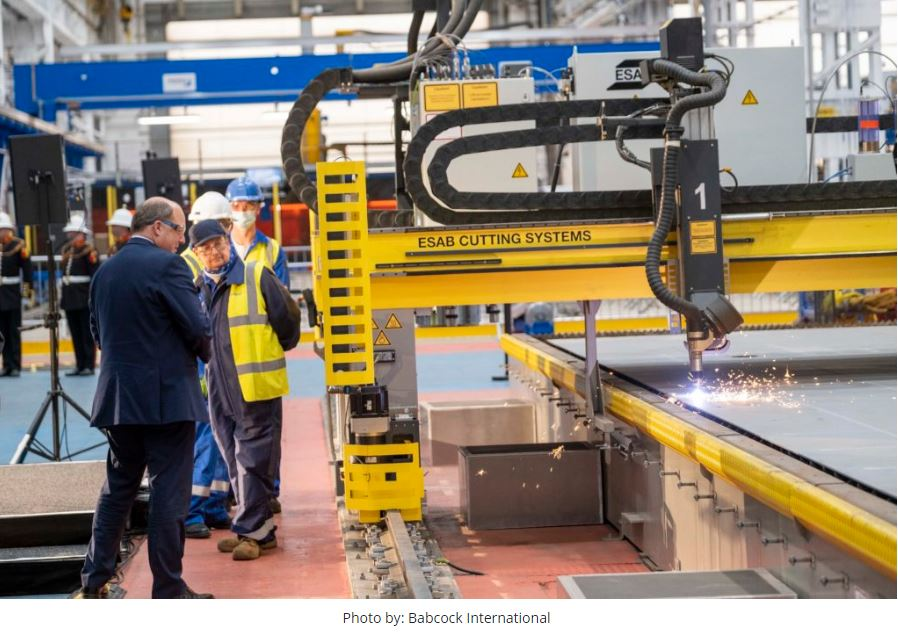 Babcock cuts steel for Royal Navy's first Type 31 frigate