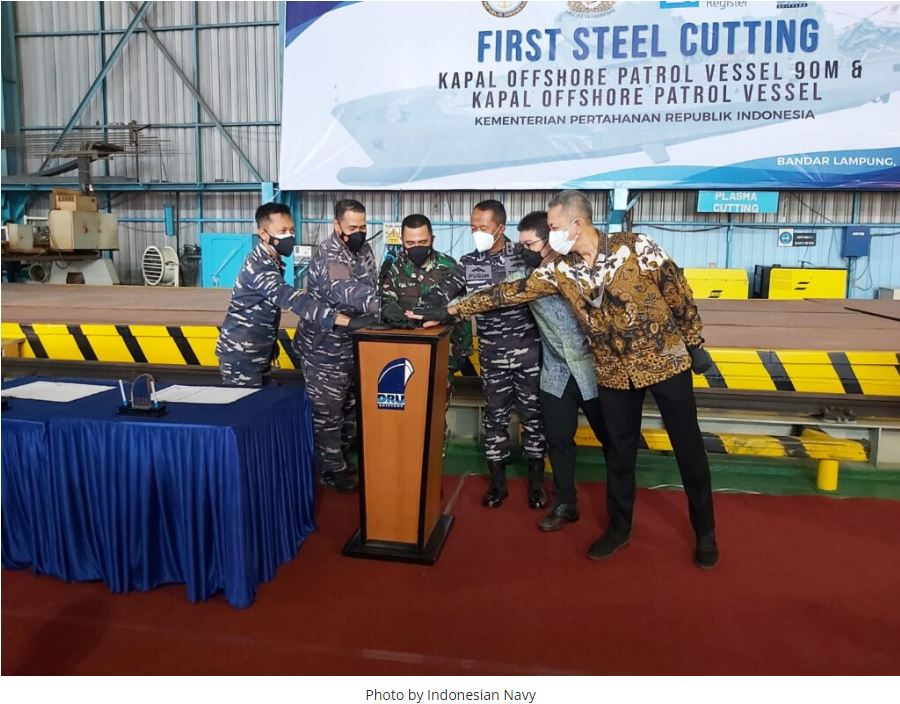Construction starts on Indonesian Navy's two new OPVs