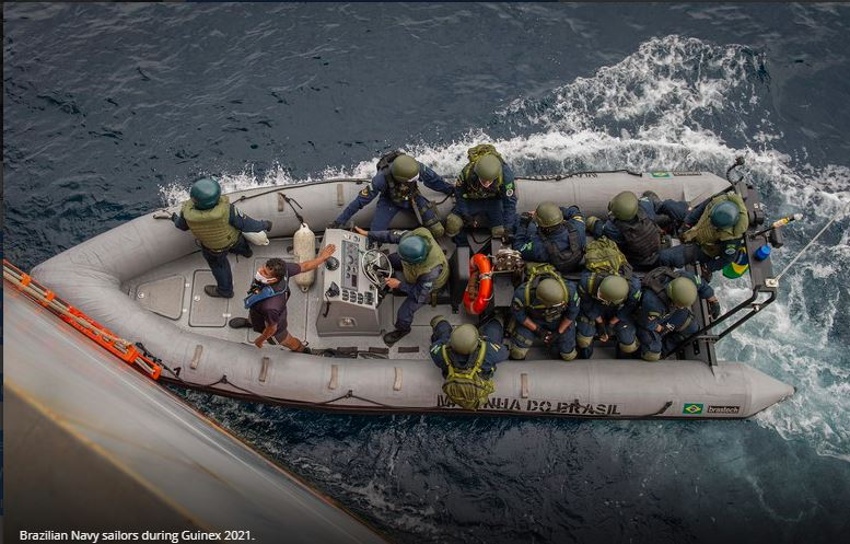 """Hershel """"Woody"""" Williams crew joins Brazilian Navy for inaugural Operation Guinex"""