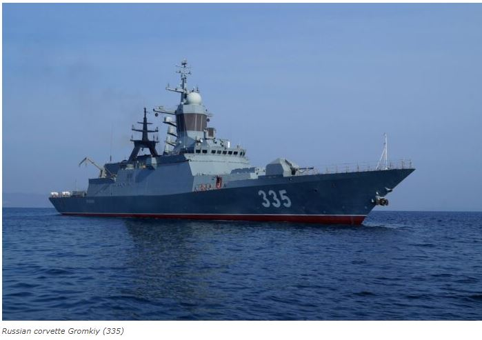 Russian naval ships strike enemy cruise missiles in Sea of Japan drills