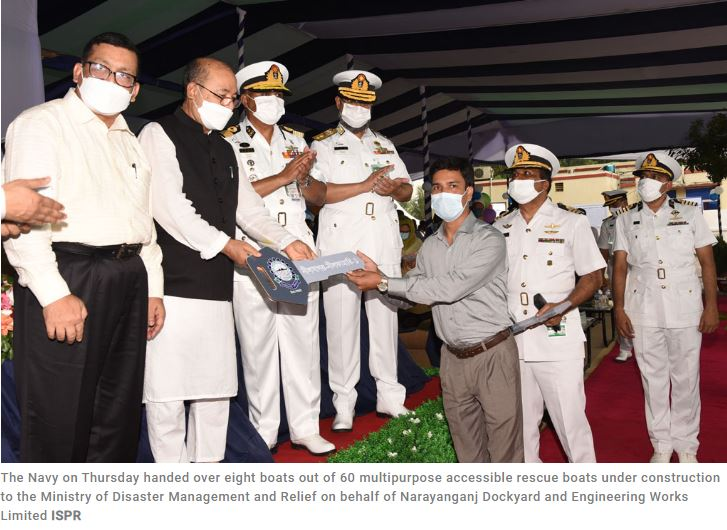 Bangladesh Navy delivers 8 multipurpose rescue boats
