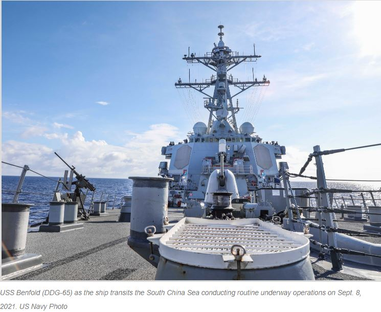 Destroyer Performs FONOP, U.S. Navy Disputes Chinese Claim That It Ousted Warship