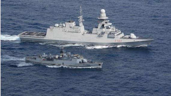 NAVE MARCEGLIA PRACTICES IN THE GULF OF GUINEA WITH THE FRENCH OF DUCUING