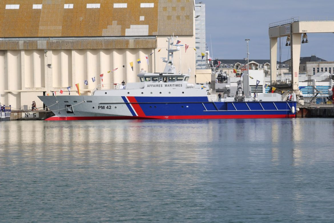 OCEA floats out new French aluminum OPV