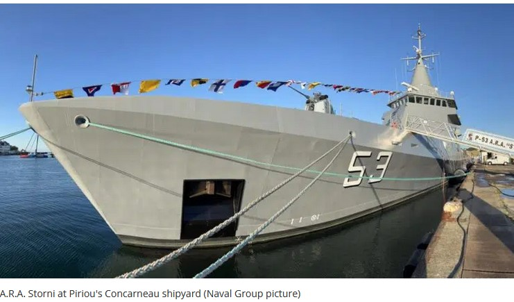 OPV 87 A.R.A. Storni handed over to Argentine Navy