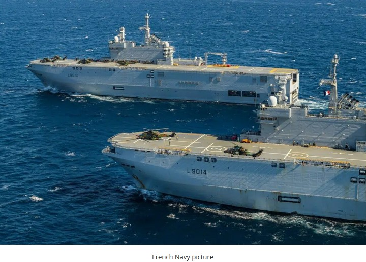Two French LHDs and 25 Helicopters Take Part in Large Amphibious Exercise