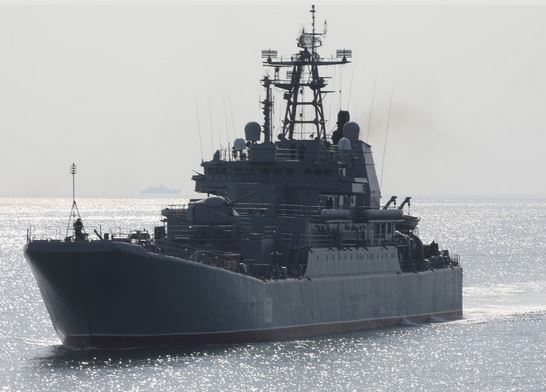 More than 40 ships and boats of the Black Sea Fleet took part in a large-scale exercise at the Opuk training ground in Crimea
